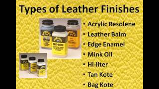 Leather Dyes and Finishes