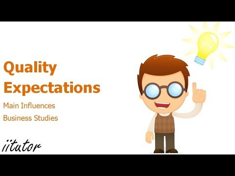 √ Main influences: Quality expectations | Business Studies | iitutor