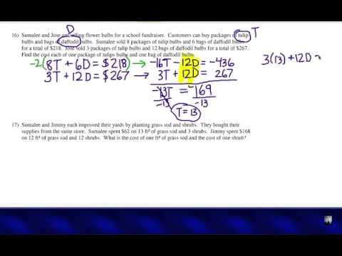 algebra word problems systems of equations youtube. Black Bedroom Furniture Sets. Home Design Ideas