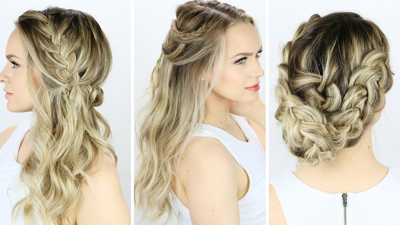 3 Prom or Wedding Hairstyles You Can Do Yourself! - YouTube