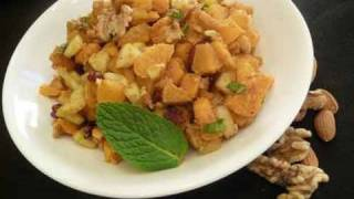 Healthy Sweet Potato Chaat - Indian Salad Recipe
