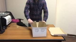 Как собрать коробку под торт(Соберите без проблем коробку под торт из микрогофрокартона, следуя этой инструкции. Подробнее о коробках..., 2015-01-21T11:58:29.000Z)