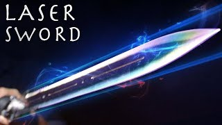 How To Make a LASER SWORD! - Powerful Burning Laser Lightsaber!!! (INSANE RESULTS)