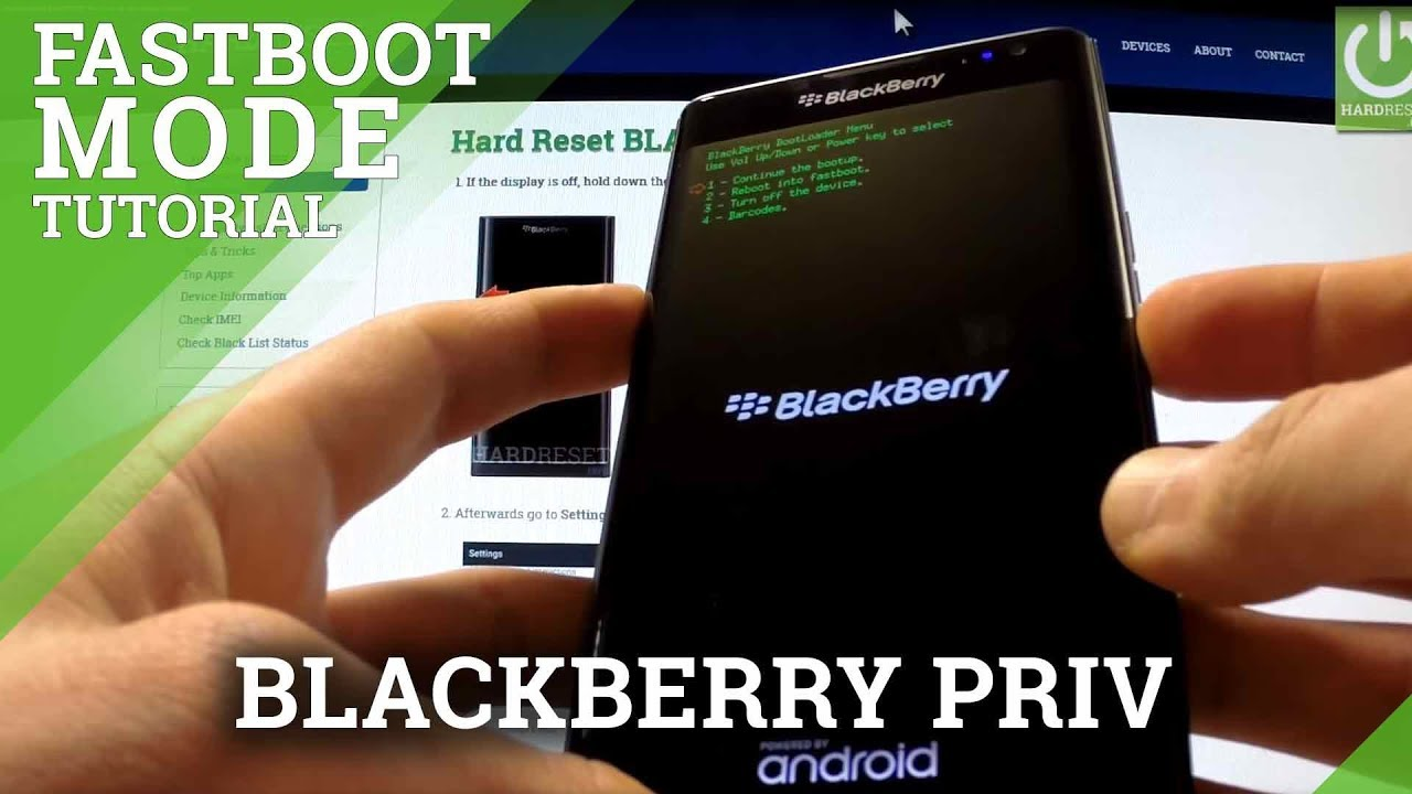 Fastboot Mode BLACKBERRY Priv - how to open and quit fastboot