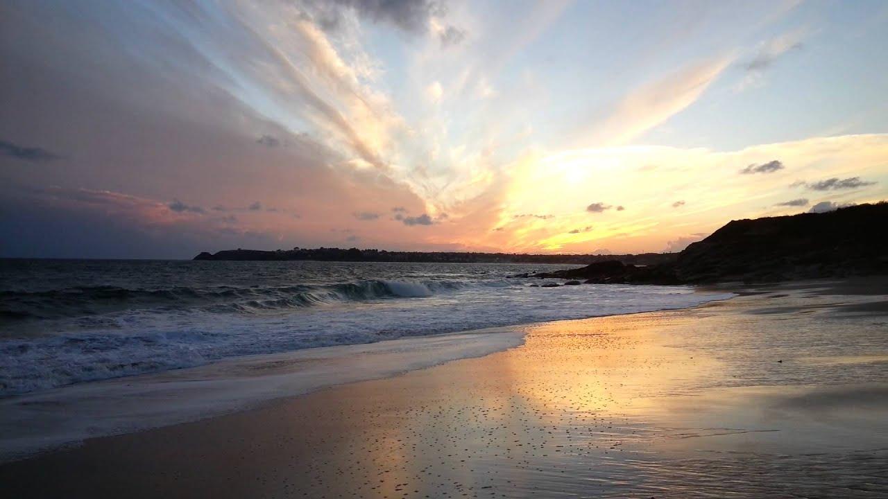 Coucher de soleil plage de tr gana locmaria plouzan for Piscine du soleil nice