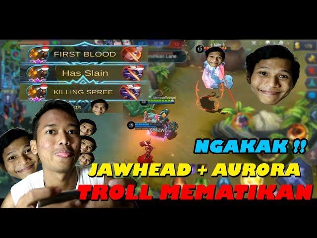 JAWHEAD TOP 1 GLOBAL LEWAT INI MAH !! #TrollSukses - Mobile Legends Indonesia