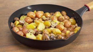 Как же это вкусно Картофель с грибами в сливочном соусе Рецепт от Всегда Вкусно