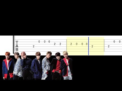 Bts - Spring Day (Easy Guitar Tabs Tutorial)