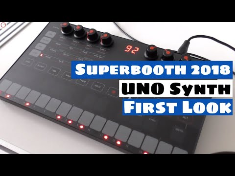 Superbooth 2018: IK Multimedia UNO Synth - First Look With Erik Norlander | SYNTH ANATOMY