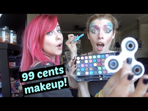 FULL FIDGET SPINNER MAKEUP!!!