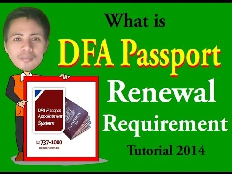 What is DFA Passport Renewal Requirement Video Tutorial 2014