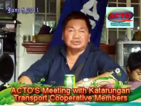 KATARUNGAN TRANSPORT COOPERATIVE MEETING WITH ACTO