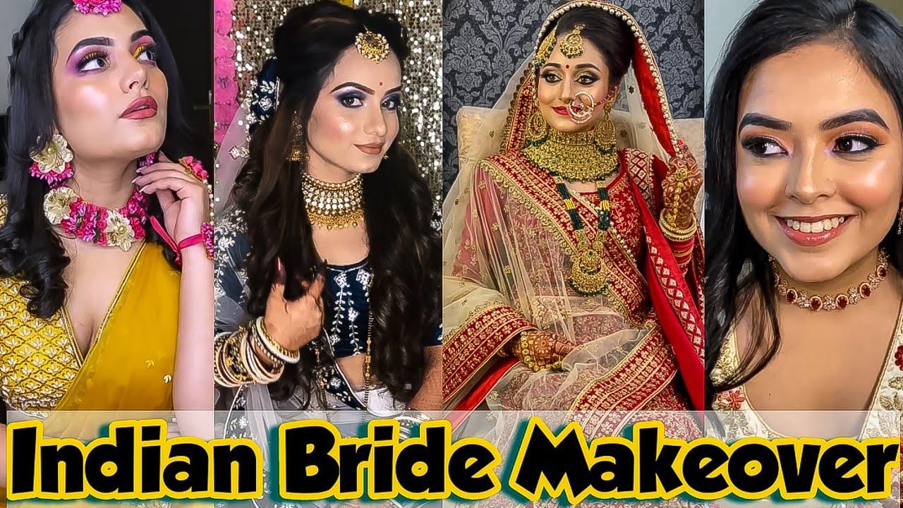 Download Indian Bride Makeover | Beautiful Bride compilation | indian wedding bridals