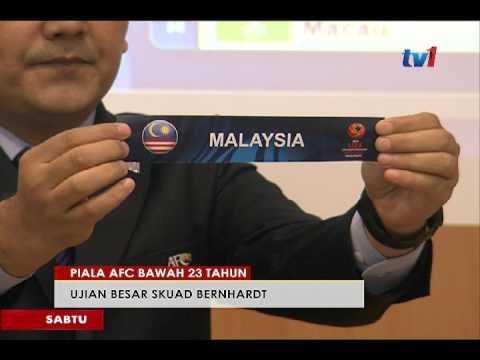 PIALA AFC BAWAH 23 TAHUN - M'SIA DIUNDI DALAM KUMPULAN H [17 MAC 2017]