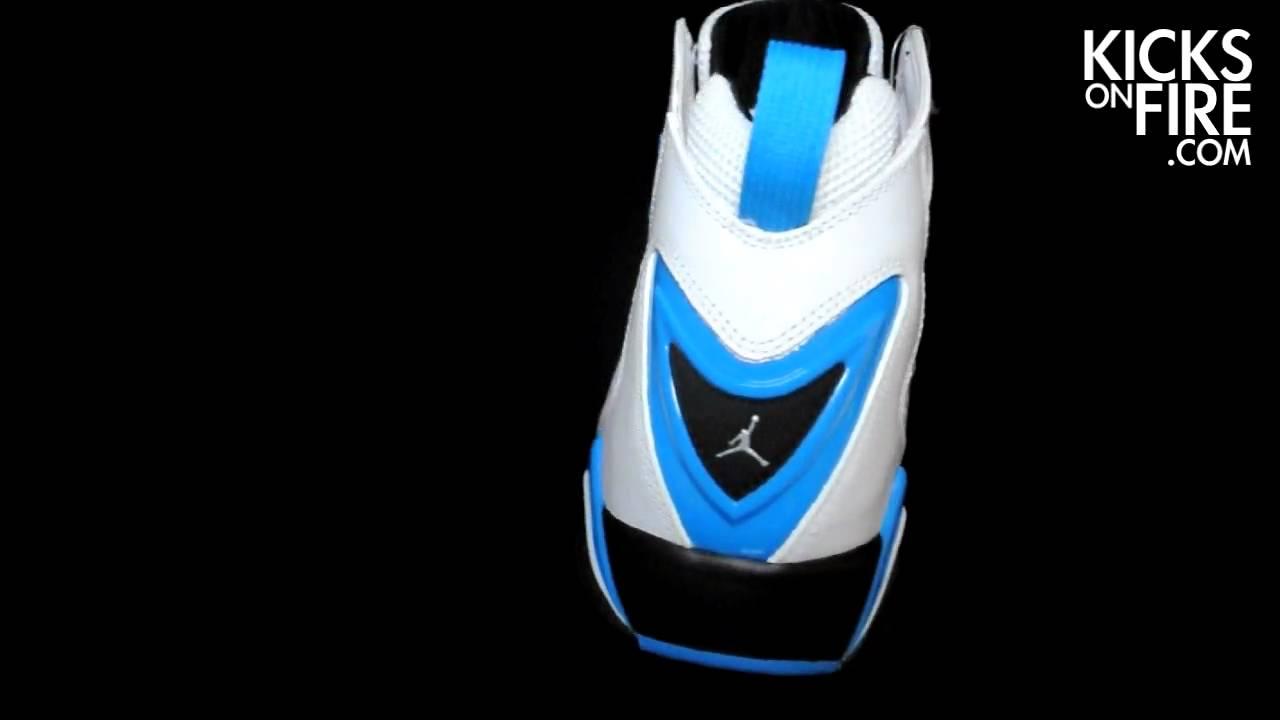 f6e816f0612 Air Jordan True Flight - White   Laser Blue - Black - YouTube
