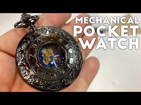 Stunning Double Cover Skeleton Mechanical Movement Pocket Watch By ManChDa