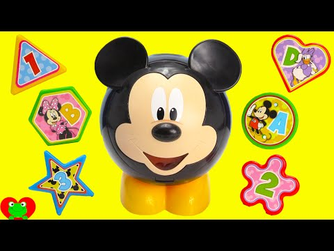 LEARN Shapes And Colors With Mickey Mouse Shape Sorter