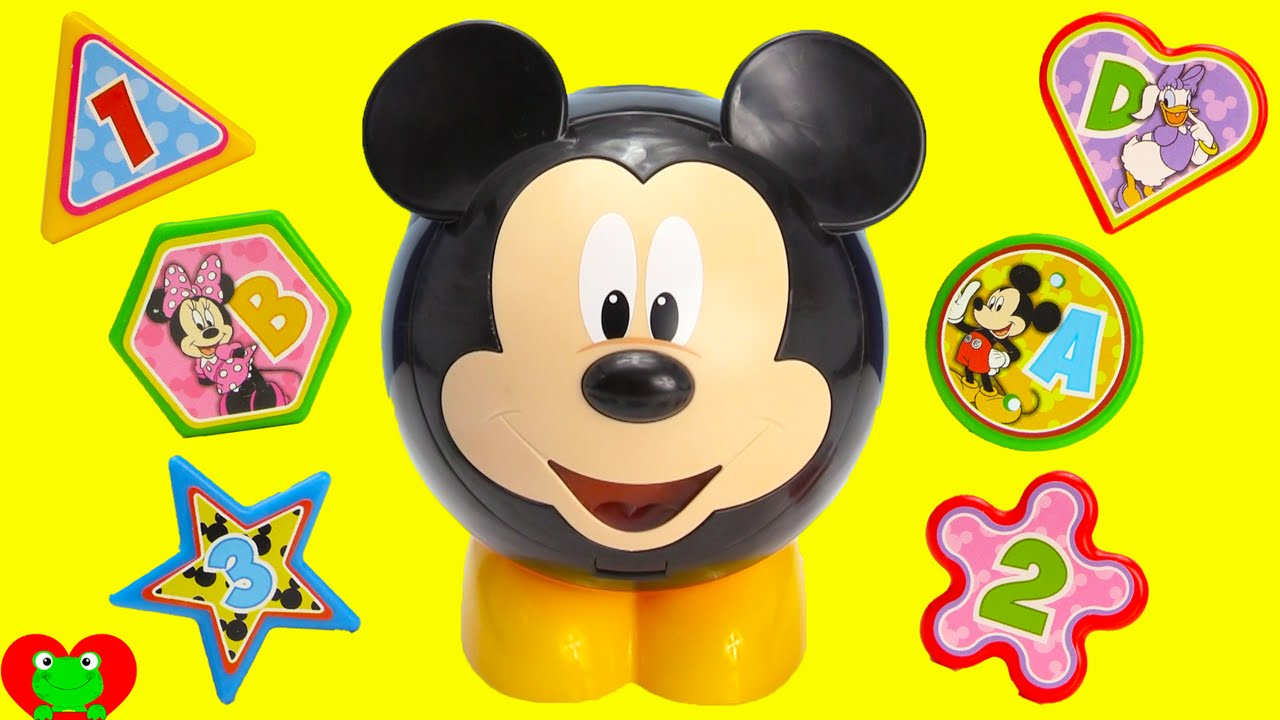 Learn Shapes And Colors With Mickey Mouse Shape Sorter Youtube