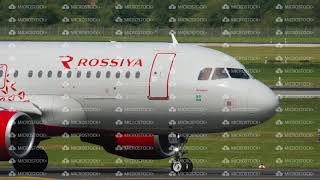 Airbus A319 Rossiya taxiing before departure
