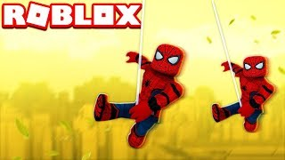 SPIDERMAN AWAY FROM HOME IN ROBLOX !!