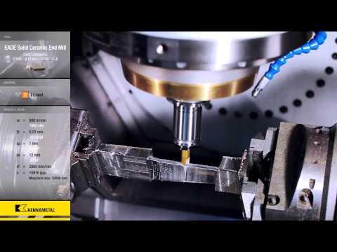 Turbine Blade Machining with Kennametal's Standard Ceramic Tools