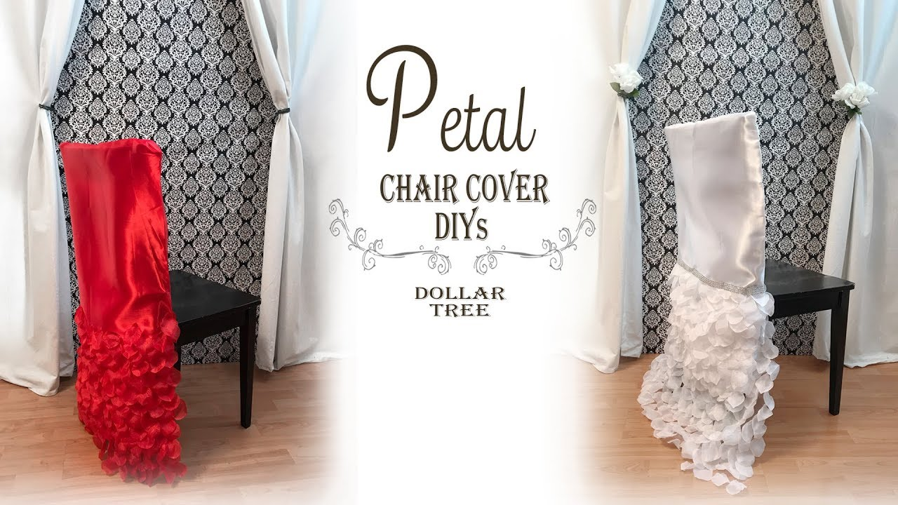 Petal Chair Cover DIY / Wedding DIY / Bridal Shower / Dollar Tree DIY /  Party Decor