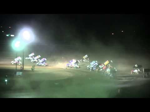 Dominic Scelzi 8/2/14 King of the West Main Event Stockton 99 Speedway