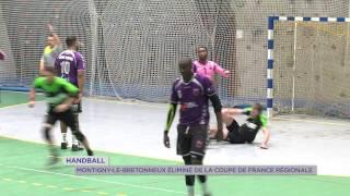 Handball : Montigny-le-Bretonneux éliminé de la Coupe de France