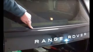 How to remove the tailgate lower window rubber trim on Range Rover L322