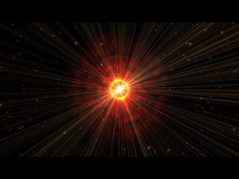 4K Fire Red Gas Planet Shining in Space 2160p Motion Effect