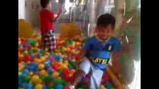 indoor playground fun with Xander