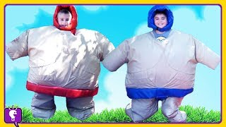SUMO SUITS Costume CHALLENGE with HobbyKids and HobbyDad!
