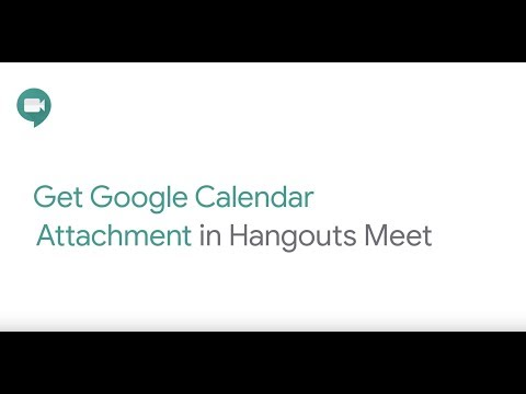 Surface attachments from Google Calendar in Hangouts