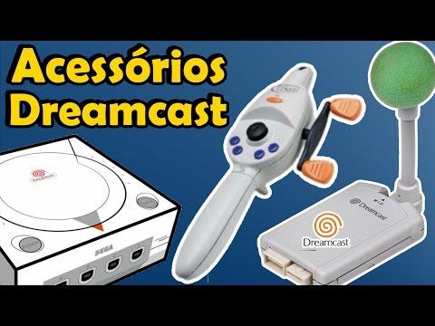 Acessórios diferentes e estranhos do Dreamcast da Sega