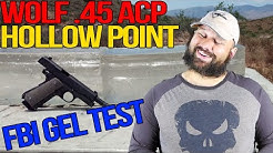 Wolf Gold (PPU)  .45 Auto 185 gr SJHP gel test and review