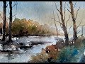 SIMPLE LANDSCAPE IN WATERCOLOR | PAINT WITH DAVID |