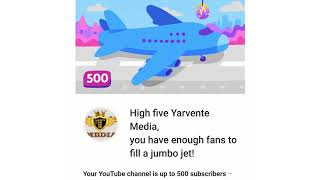 WE'VE REACHED 500 SUBSCRIBERS ON YouTube! #BeLiveBeRealBeInformed