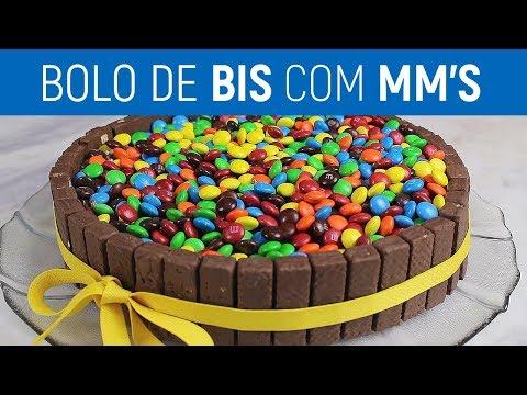 BOLO DE BIS COM MM's | Mike na Cozinha