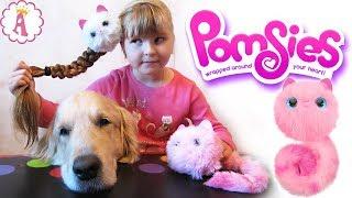 Интерактивные кошечки Pomsies пушистые котята игрушки для девочек Помсис Пинки и Снежа Pom Pom Toys