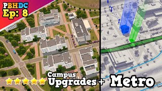 First Metro Line + Campus / Industry Upgrades [Pro builds his Dream City, Ep. 8][Cities: Skylines]
