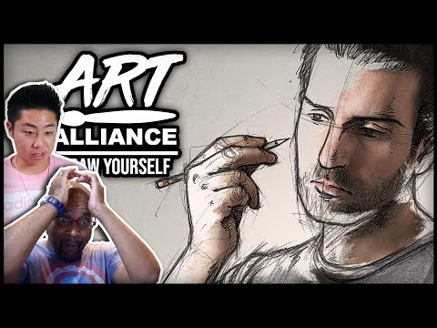 ART ALLIANCE Reacts to DRAW YOURSELF CHALLENGE Entries ft. BoxOfficeArtist, ZHC, Cartoon Block, Flo