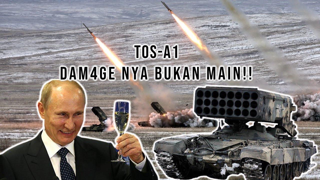 RUSIA PAMERKAN PELUNCUR RUDAL FLAMETHROWER TOS A1!!