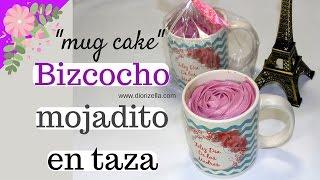 Bizcocho Mojadito en Taza Mug Cake Día de las Madres Diorizella Events and Crafts