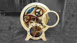 09 Making A Clock From Wood And Car Parts