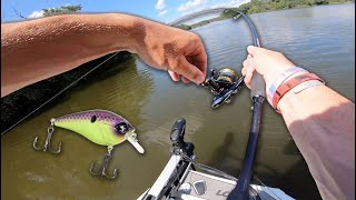 HOOKED UP! Fishing GNARLY RIVER With CRANKBAITS!!