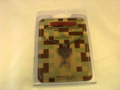 GI Jewelry Military Menorah Pendant