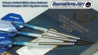 Unicorn Gary Anderson World Champion 2015 Limited Edition 23g darts review