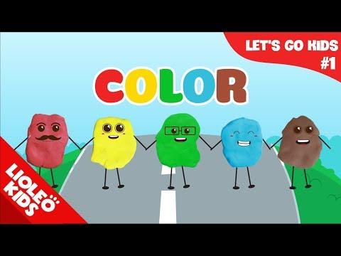 Bé học tiếng Anh về màu sắc |[Trọn bộ 20 chủ đề từ vựng sách Let's go] [Lioleo Kids]