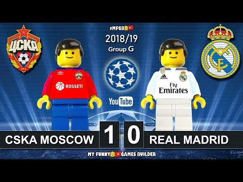 CSKA Moscow vs Real Madrid 1-0 • Champions League 2019 (02/10/18) All Goals Highlights Lego Football