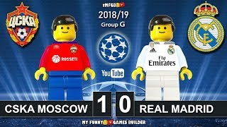 CSKA Moscow vs Real Madrid 1-0 • Champions League 2019 (02/10/18) All Goals Highlights Lego Football